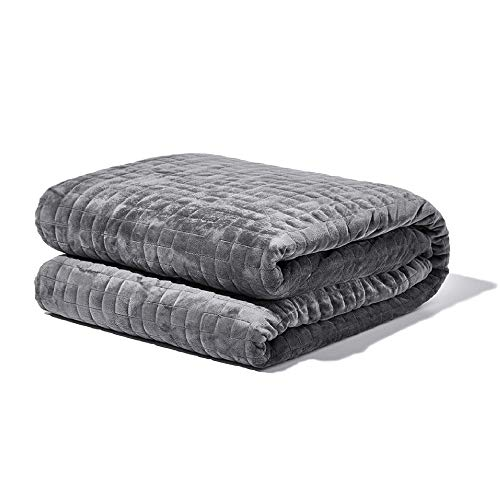 Gravity Blanket: The Weighted Blanket for Sleep | Premium Weighted Blanket with Removable Cover | Generation 3 with Upgraded Zipper Fastening System | Grey, 20lbs, 48'x72'