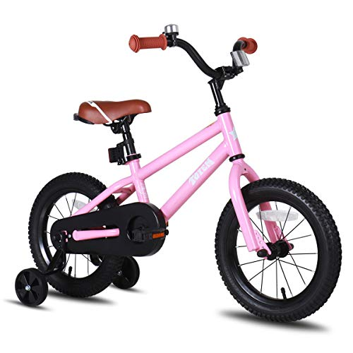 JOYSTAR 16 Inch Kids Bike for Girls 5 6 7 Years Old with Training Wheels Gifts Children Bicycle with Coaster Brake BMX Style Pink