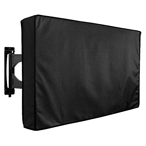 Outdoor TV Cover 50' - 52' - with Bottom Cover - The Weatherproof and Dust-Proof Material with Free Microfiber Cloth. Protect Your TV Now!