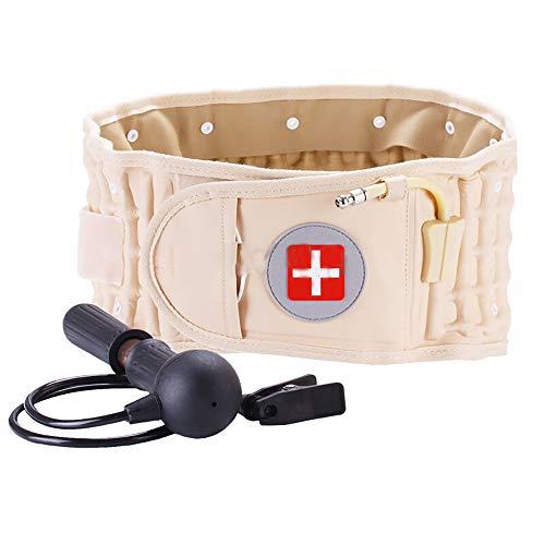 CR-801 Back Decompression Waist Belt Back Massager Back Pain Relief Lumbar Inflatable Traction Belt Air Waist Support Brace for Women & Men One Size Fits 29-49 Waist