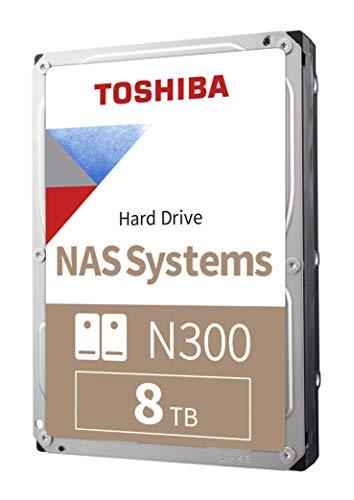 Toshiba N300 8TB NAS 3.5-Inch Internal Hard Drive - CMR SATA 6 GB/s 7200 RPM 256 MB Cache - HDWG180XZSTA