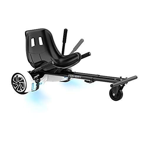 Hover-1 Buggy Attachment for Transforming Hoverboard Scooter into Go-Kart , Black, 24' L x 7.5' W x 19' H