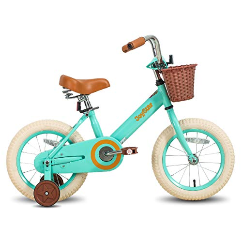 JOYSTAR 16 Inch Kids Bike with Training Wheels for 4 5 6 7 Years Old Girls, Kids Bicycle with Front Basket, Children Cycle, Green