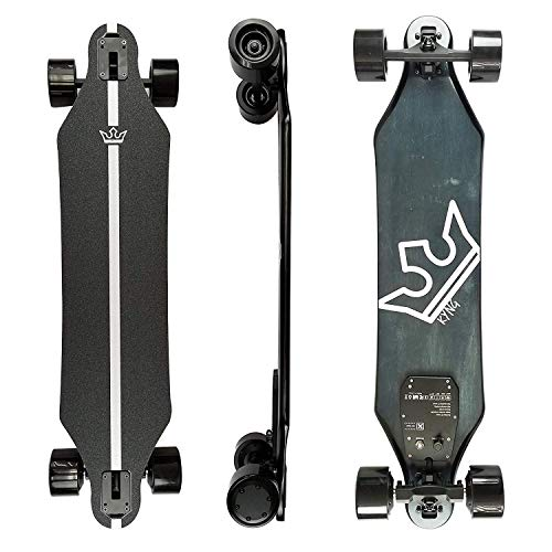 Kyng 37' Electric Skateboard with Remote, 22 MPH / 960W Dual Motors / 11 Mile Range | Wireless LCD Remote, 10-Layer Maple Deck, High Speed Longboard