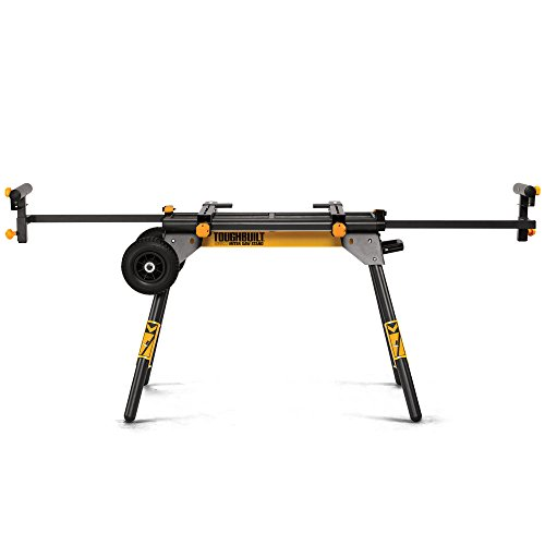 ToughBuilt - Universal 77' Miter Saw Stand/Support Stand - Universal Miter Saw Stand, Universally Compatible, 2 Work Supports Extend to 77', Quick Release Leg Locks - (TB-S510-)
