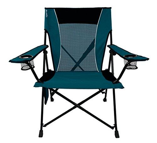Kijaro Dual Lock Portable Camping and Sports Chair, Cayman Blue Iguana