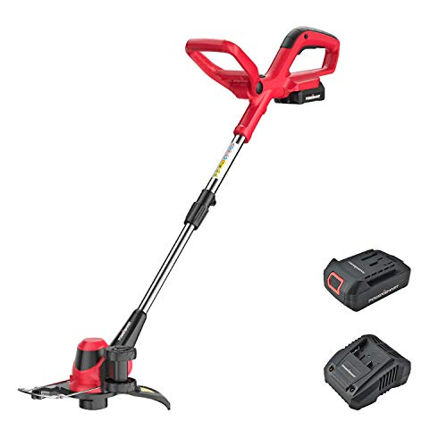 PowerSmart String Trimmer, 20 Volt Lithium-Ion Cordless String Trimmer with 10-INCH Cutting Diameter , 2-in-1 Cordless Trimmer/Edger only 7. 5 pounds, PS76110A