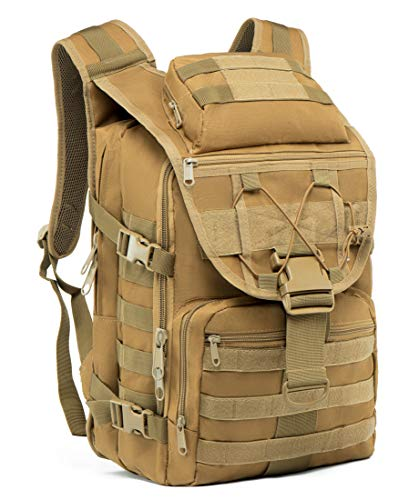 Supersun Tactical Military-Backpack Molle Bag - 35L Tactical Backpack Laptop Bug Out Bag Military Rucksack Hunting Survival Camping