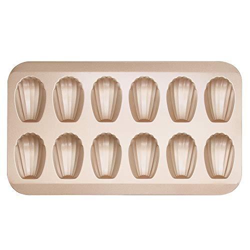 Zeakone 12-Cup Madeleine Pan, Nonstick Shell Shape Baking Cake Mold Pan, for Oven Baking
