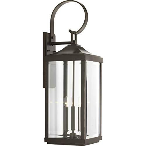 Gibbes Street Collection Antique Bronze Three-Light Traditional Large Wall Lantern