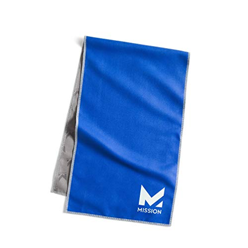 """MISSION Original Cooling Towel- Evaporative Cool Technology, Cools Instantly When Wet, UPF 50 Sun Protection, for Sports, Yoga, Golf, Gym, Neck, Workout, 10"""" x 33"""""""