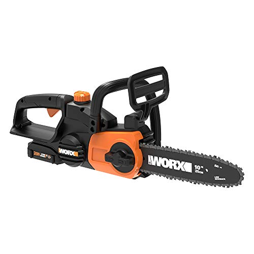 WORX WG322 20V PowerShare 10' Cordless Electric Chainsaw with Auto-Tension