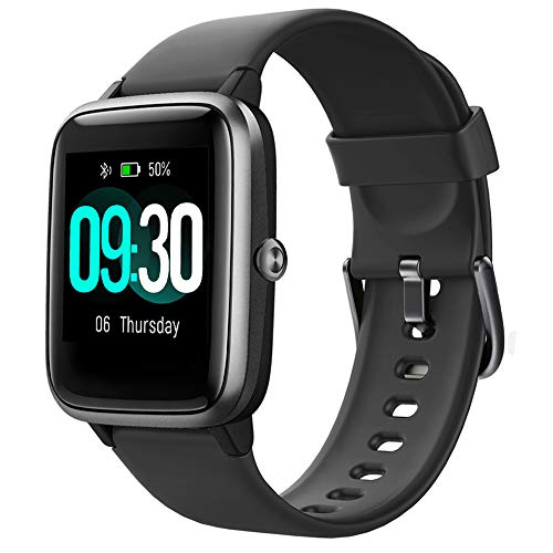 Willful Smart Watch for Android Phones and iOS Phones Compatible iPhone Samsung, IP68 Swimming Waterproof Smartwatch Fitness Tracker Fitness Watch Heart Rate Monitor Smart Watches for Men Women Black