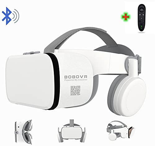 3D Virtual Reality VR Headset with Wireless Remote Control, VR Glasses for IMAX Movies & Play Games , Compatible for Android iOS iPhone 12 11 Pro Max Mini X R S 8 7 Samsung 4.7-6.2' Cellphone