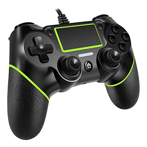 PomisGam Wired PS4 Controller for Playstation 4/pro/Slim/PC Windoews(7.8.10)/Steam,Professional USB PS4 Wired Gamepad(6.5ft Cable Length)