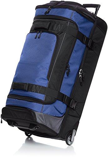 Amazon Basics Ripstop Wheeled Duffel, 35 Inch - Blue