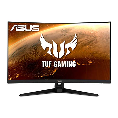 ASUS TUF Gaming 32' 2K HDR Curved Monitor (VG32VQ1B) - WQHD (2560 x 1440), 165Hz (Supports 144Hz), 1ms, Extreme Low Motion Blur, Speaker, FreeSync Premium, VESA Mountable, DisplayPort, HDMI