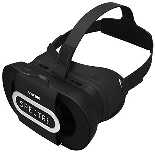 VIOTEK Spectre VR Headset for Smartphones (4.5 to 6 Inches) | Foldable, Lightweight & Comfortable for eLearning, Virtual Tours, at-Home Students | Adjustable IPD & Single Capacitive Button (Black)
