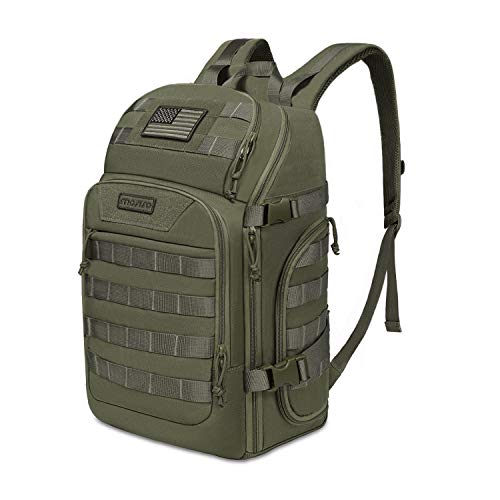 MOSISO 30L Tactical Backpack, Military Daypack 3 Day Assault Molle Rucksack Bag, Army Green