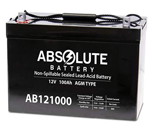 Absolute Battery AB121000 12V 100AH D5751 Battery Wheelchair Mobility Deep Cycle Solar 110AH