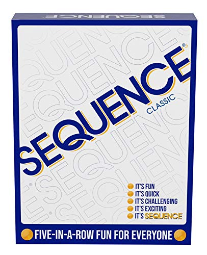 SEQUENCE- Original SEQUENCE Game with Folding Board, Cards and Chips by Jax ( Packaging may Vary ) White, 10.3' x 8.1' x 2.31'