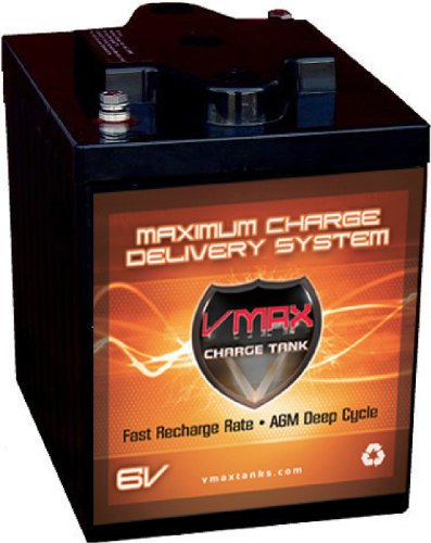 VMAXTANKS 6 Volt 225Ah AGM Battery: High Capacity & Maintenance Free Deep Cycle Battery for Golf Carts, Solar Energy, Wind Energy.