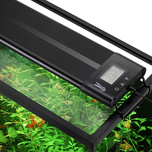 Hygger Auto On Off 18-24 Inch LED Aquarium Light Extendable Dimable 7 Colors Full Spectrum Light Fixture for Freshwater Planted Tank Build in Timer Sunrise Sunset