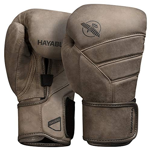 Hayabusa T3 LX Italian Leather Boxing Gloves for Men and Women - Brown, 16 oz