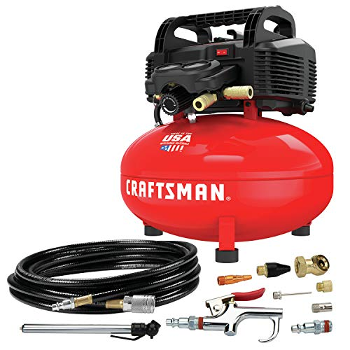CRAFTSMAN Air Compressor, 6 Gallon, Pancake, Oil-Free with 13 Piece Accessory Kit (CMEC6150K)