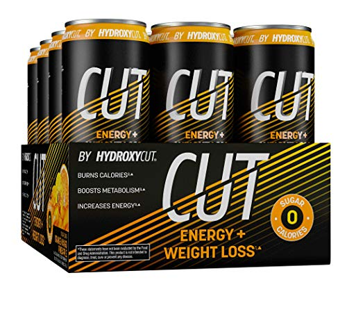 Energy Drink + Weight Loss | Hydroxycut Cut | Sparkling Energy Drinks + Weight Loss | Sugar Free, Zero Calories | Metabolism Booster for Weight Loss | Orange Mango Pineapple, 12 fl oz Can (Pack of 12)