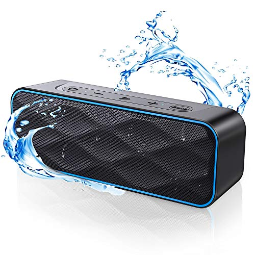Waterproof Bluetooth Speaker, ZoeeTree S1Pro Speaker Bluetooth Wireless with Strong Bass & 20W HD Sound, Bluetooth Speakers with 36Hours, 100Ft Wireless Range, Portable Speakers for Outdoors, Travel