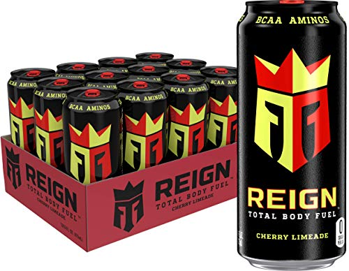 Reign Total Body Fuel, Cherry Limeade, Fitness & Performance Drink, 16 Fl Oz (Pack of 12)