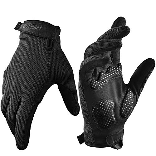 FREETOO Full Finger Workout Gloves for Men, [Extra Grip] [Foam Padded] Weightlifting Gym Gloves Breathable Exercise Sports Gloves Lightweight (Male)-XL