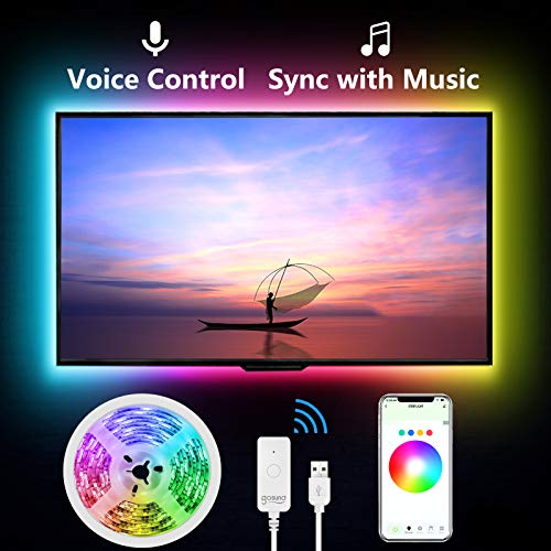 Led Lights for TV, 9.2ft TV Backlight with Voice Control, Music Sync
