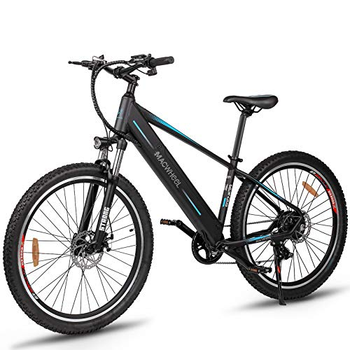 Macwheel 500W Electric Bike, 27.5'' Electric Mountain Bike with 48V/10Ah Removable Lithium-Ion Battery, Electric Commuting Bicycle with Suspension Fork (Wrangler 600)
