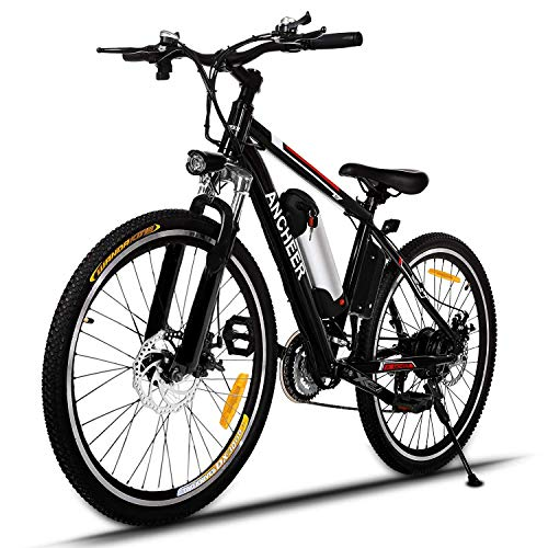 ANCHEER 500W/250W Electric Bike Adult Electric Mountain Bike, 26' Electric Bicycle 20Mph with Removable 12.5Ah/8AH Lithium-Ion Battery, Professional 21 Speed Gears