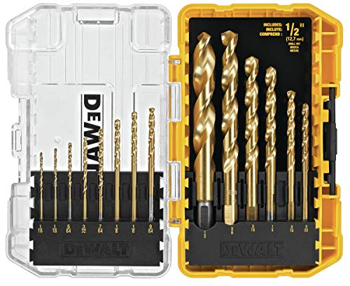 DEWALT DW1341 14-Piece Titanium Speed Tip Drill Bit Set