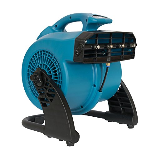 XPOWER FM-48 Heavy Duty 3-Speed Misting and Cooling Utility Fan, Blue