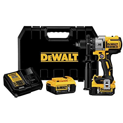 DEWALT 20V MAX XR Brushless Drill/Driver 3-Speed, Premium 5.0Ah Kit, Cordless (DCD991P2)