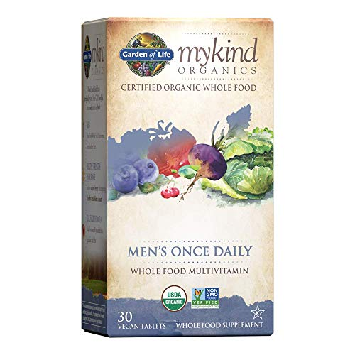 Garden of Life Multivitamin for Men - mykind Organic Men's Once Daily Whole Food Vitamin Supplement Tablets, Vegan, 30 Count