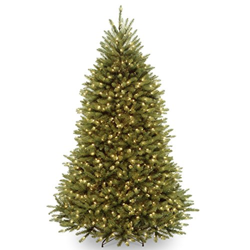 National Tree Company lit Artificial Christmas Tree Includes Pre-strung White Lights and Stand, 7.5 ft, Green