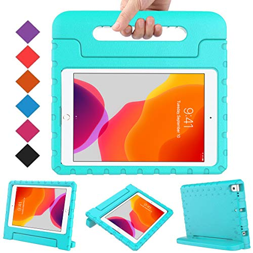 BMOUO Kids Case for iPad 10.2 2020/2019, iPad 10.2 Case, iPad 8th/7th Generation Case, Shock Proof Light Weight Convertible Handle Stand Kids Case for Apple iPad 10.2 inch 2020/2019, Turquoise