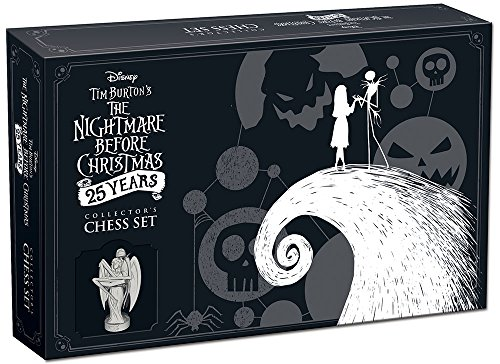 USAOPOLY Nightmare Before Christmas 25 Years Collector's Chess Set   25th Anniversary Collectable Piece Figures Set 32 Custom Sculpt Nightmare Before Christmas Movie Characters