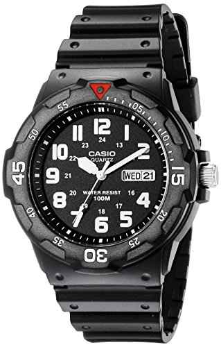 Casio Japanese-Quartz Sport Watch with Resin Strap, Black, 18 (Model: EAW-MRW-200H-1BV)