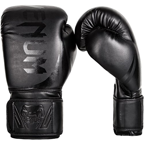 Venum Challenger 2.0 Boxing Gloves - Black/Black - 16-Ounce