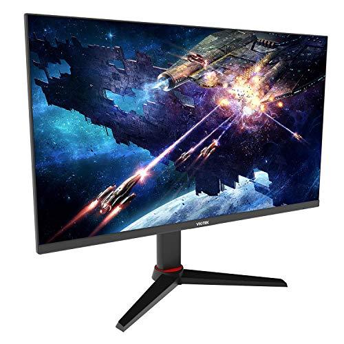 VIOTEK GFT27CXB 27-Inch Gaming Monitor   240Hz 1080p Full-HD 1ms   Multi-User Profiles, G-Sync-Ready & FreeSync   HDMI DP 3.5mm   Height, Tilt, Swivel, Pivot (VESA)