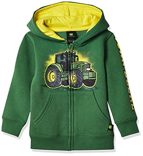 John Deere baby boys Fleece Zip Hoody Hooded Sweatshirt, Green, 4T US