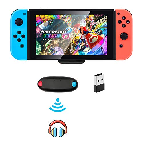 Bluetooth Adapter for Nintendo Switch/ Switch Lite PS4 PS5 PC, BT 5.0 Bluetooth Wireless Audio Transmitter with Aptx Low Latency USB C for Switch Bluetooth Headphone Speakers Airpods on PC Laptop