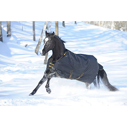 Bucas Irish Extra Heavyweight Horse Turnout Blanket Black - 66