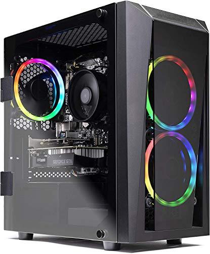 SkyTech Blaze II Gaming Computer PC Desktop - Ryzen 5 3600 6-Core 3.6GHz, GTX 1660 Super 6G, 500G SSD, 16GB DDR4 3000, RGB, AC WiFi, Windows 10 Home 64-bit